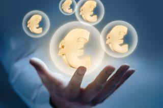 Foto: Eurozeichen in Blase